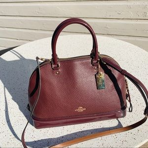 NWT Coach Soft Leather Double Zip Dome Bag